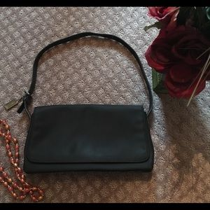Coach Black Twill & Leather Mercer Flap Purse